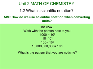 2.2 What is scientific notation