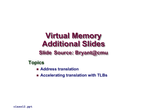 Virtual Memory - CS Course Webpages