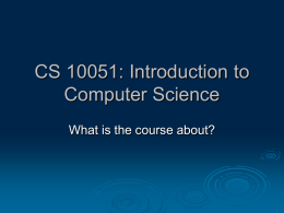 No Slide Title - Computer Science