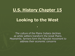 U.S. History Chapter 13 Notes Changes on the