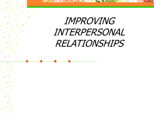 Improving Interpersonal Relationships2