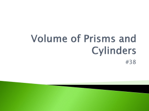 Volume of Prisms and Cylinders HW Notes
