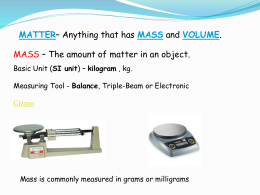 Volume is the amount of space an object takes up. The basic unit of