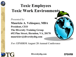 Toxic Employees Toxic Work Environments