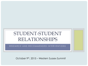Student-Student relationships