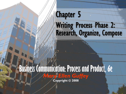 Chapter 5 Writing Process Phase 2: Research, Organize, Compose