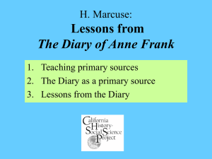 Lessons from The Diary of Anne Frank