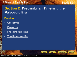 Precambrian Time and the Paleozoic Era