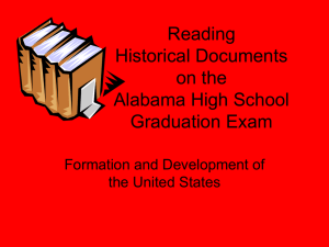 Reading Historical Documents on the Alabama High