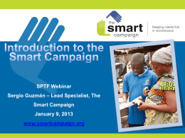 The Smart Campaign… - Social Performance Task Force