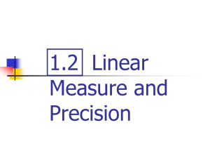 1.2 Linear Measure and Precision - Duncan-Geometry
