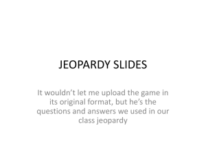 Beowulf jeopardy slides