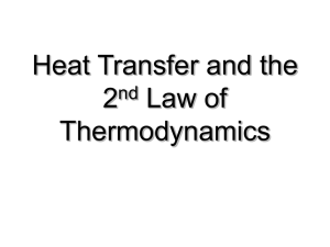 Heat Transfer and the 2nd Law of Thermodynamics