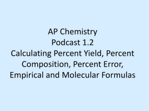 AP Chemistry Podcast 1.2 Calculating Empirical and Molecular