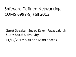 SDN Middleboxes - Columbia University