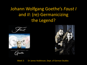 Re-Germanicizing the Myth: Goethe's Faust