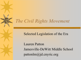 PowerPoint: The Civil Rights Movement