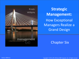 Strategic Management - McGraw Hill Higher Education