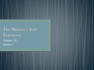 The Nation's Sick Economy - Pequannock Township High School