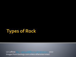 Types of Rocks Powerpoint Presentation