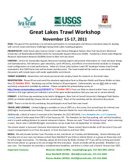 Great Lakes Trawling Workshop, 15