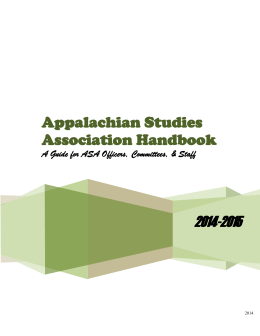 handbook2014 - Appalachian Studies Association