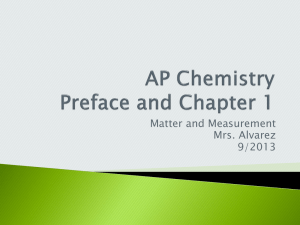 AP Chemistry Preface and Chapter 1