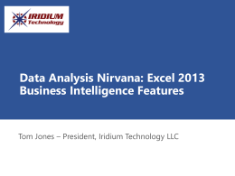 Data Analysis Nirvana: Excel 2013 Business Intelligence