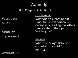 Warm Up Chapter 3, Section 1