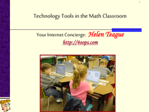 Tech Tools in the Math Classroom - OOPS