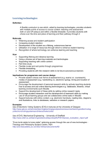 Learning Technologies Information Sheet