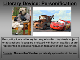 Literary Device: Personification