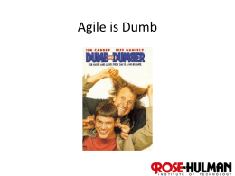 Wk9Day2 Agile is Dumb - Rose