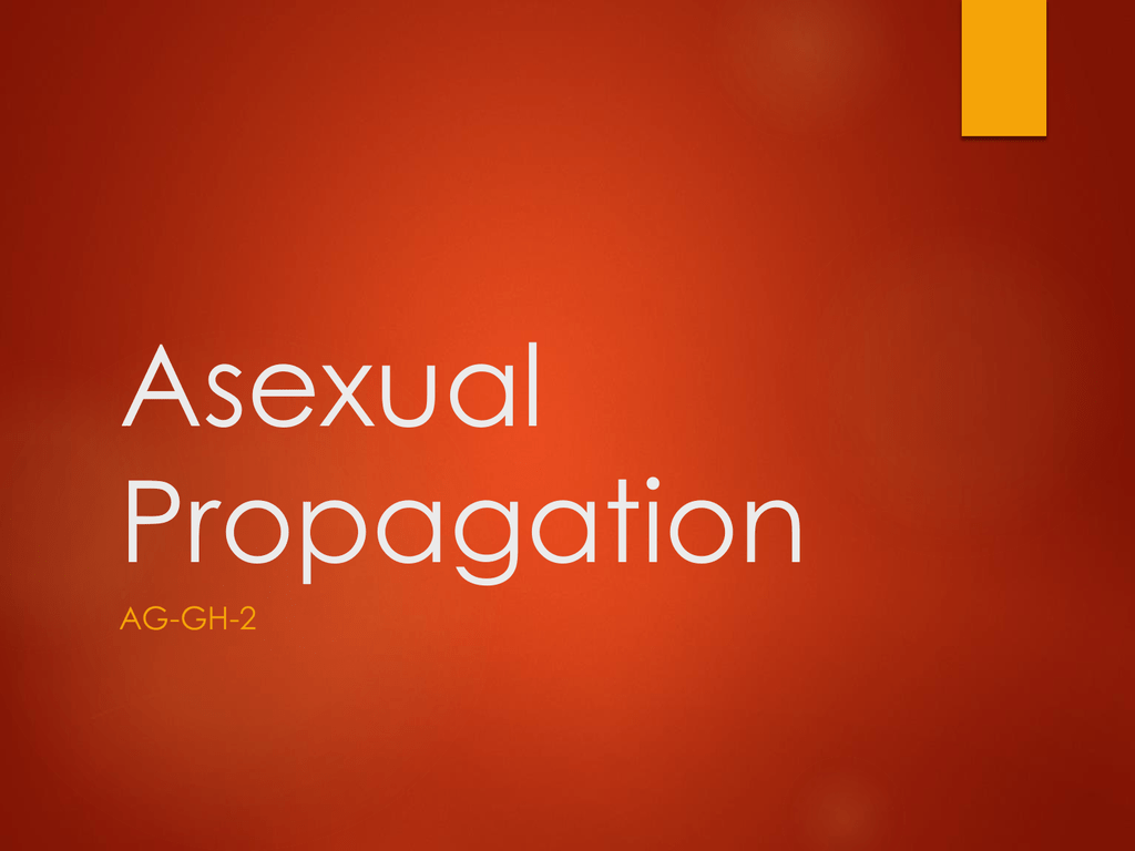Advantages of asexual reproduction propagation mats