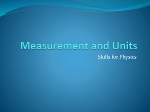 Measurement and units summary powerpoint