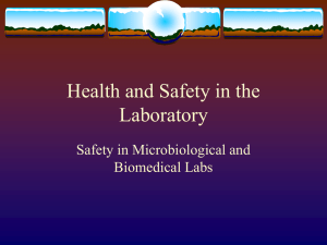 Health and Safety in the Laboratory