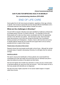 End of life care - NHS Bromley CCG