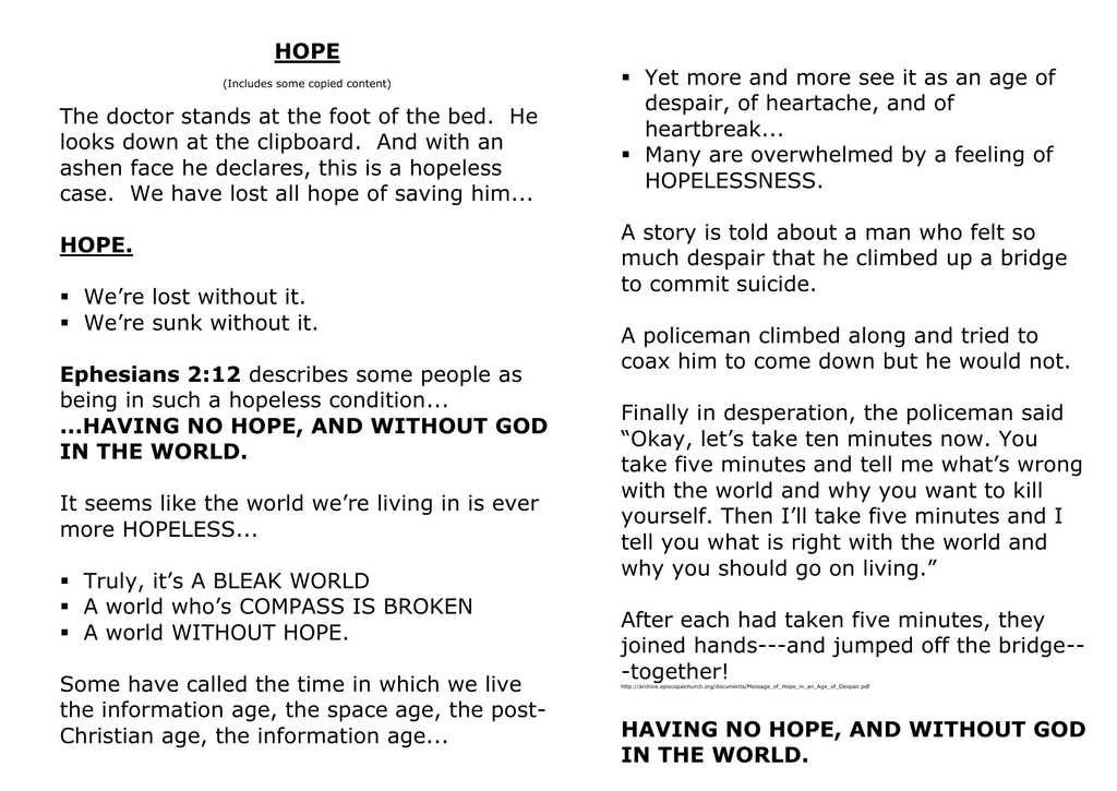 Misquoting Scripture: Do Not Grieve as Those Who Have No Hope