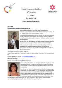 A Social Entrepreneur Chat Show 19 th November 6