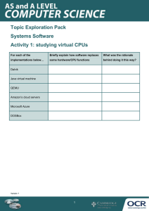 Systems software - Topic exploration pack - Learner activity