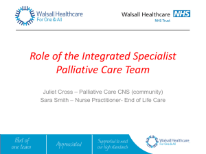 Integrated Specialist - Walsall Healthcare NHS Trust