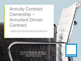 Annuity Contract Ownership