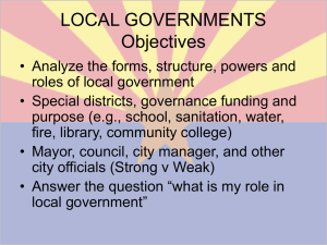 LOCAL GOVERNMENTS Objective - Ogden-Gov