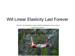 Will Linear Elasticity Last Forever