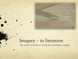 Imagery * in literature