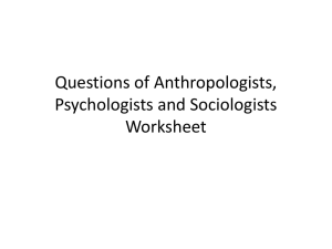 Questions of Social Scientists Answers