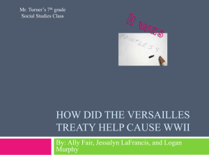 How did the Versailles Treaty Help Cause WWII