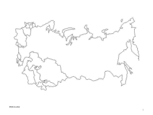 Chapter 15 Lecture and Maps Russia and the
