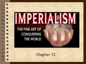 THE HEIGHT OF IMPERIALISM (1800 – 1914)