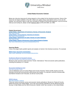 United States Economic Outlook - Leddy Library